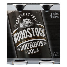 Woodstock 6% 4pk Cans